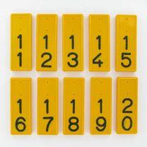 Kokernummers per paar serie 10 stuks