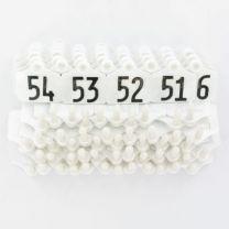 Oormerk Primaflex no. 1 genummerd wit serie 50stuks
